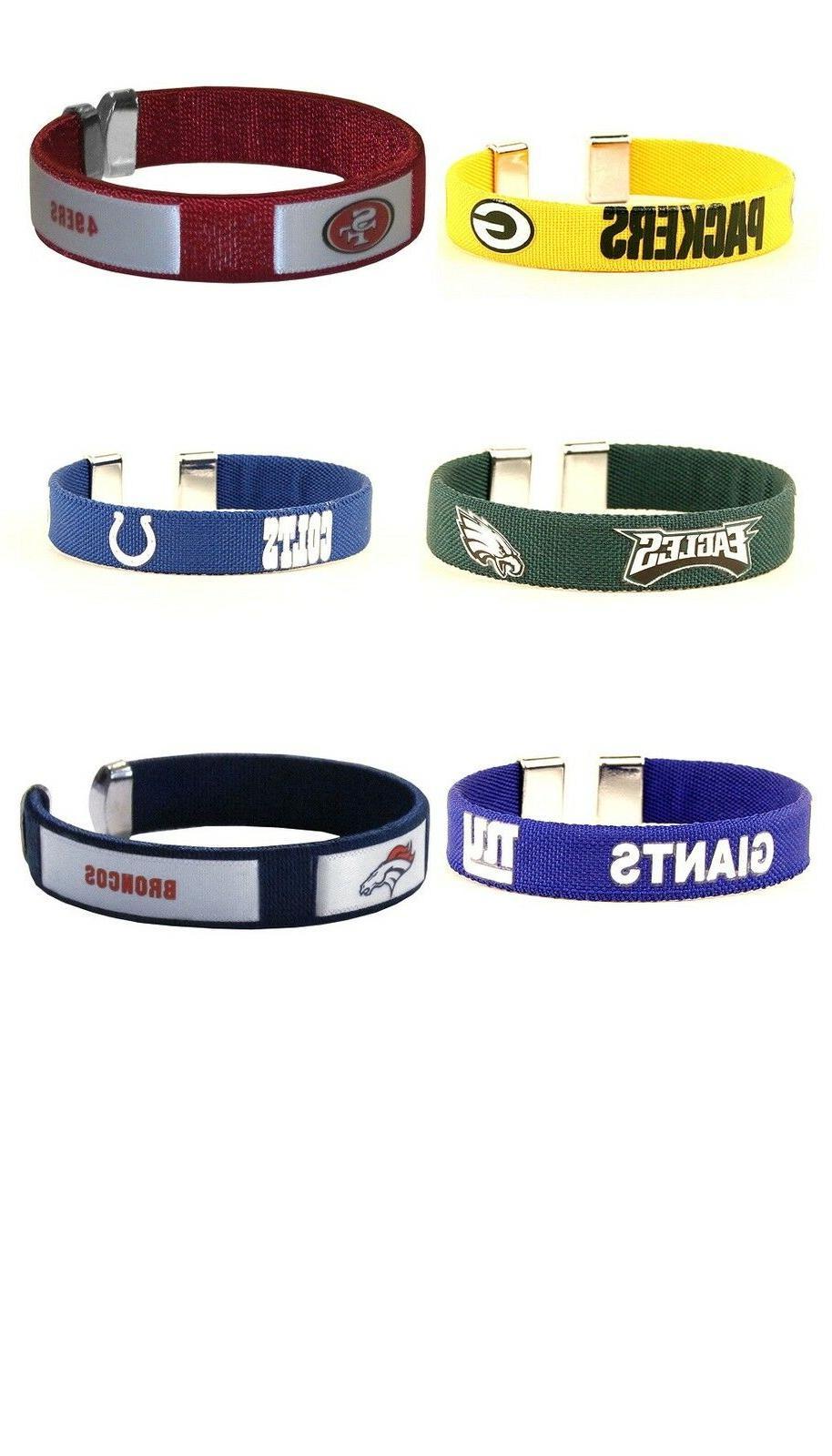 nfl fan band bracelet pick your team
