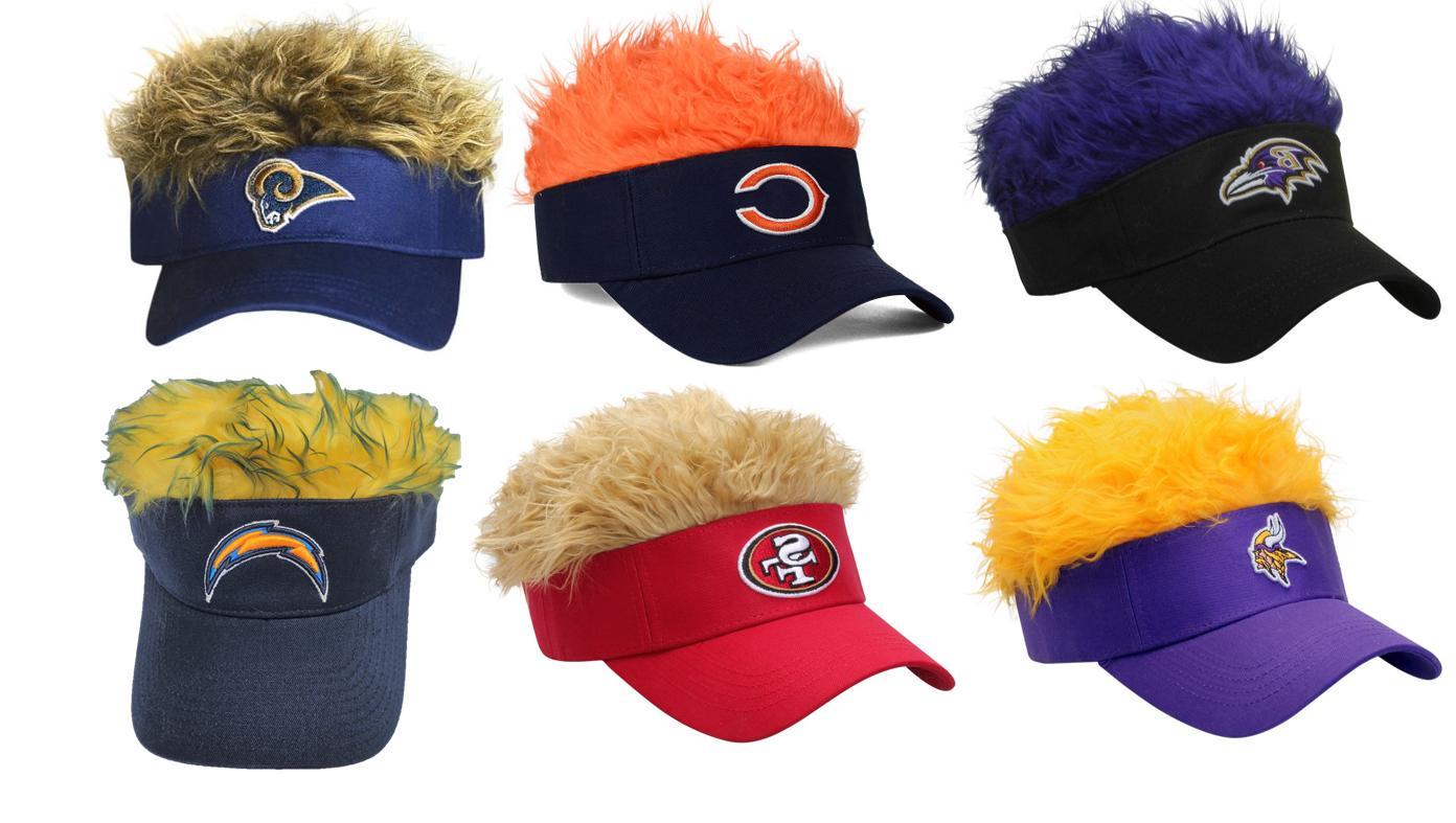 nfl fan flair hair hat visor