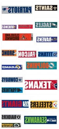 "NFL Football Bumper Strip Sticker Auto Decal 3""x12"" Pick You"