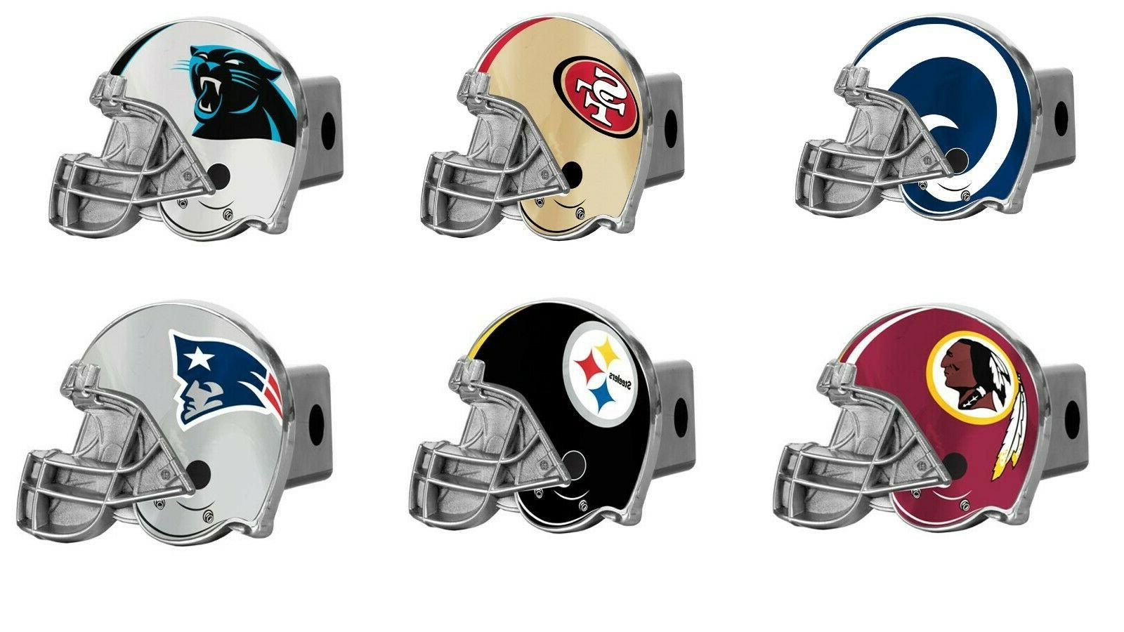 nfl football large logo metal hitch cover