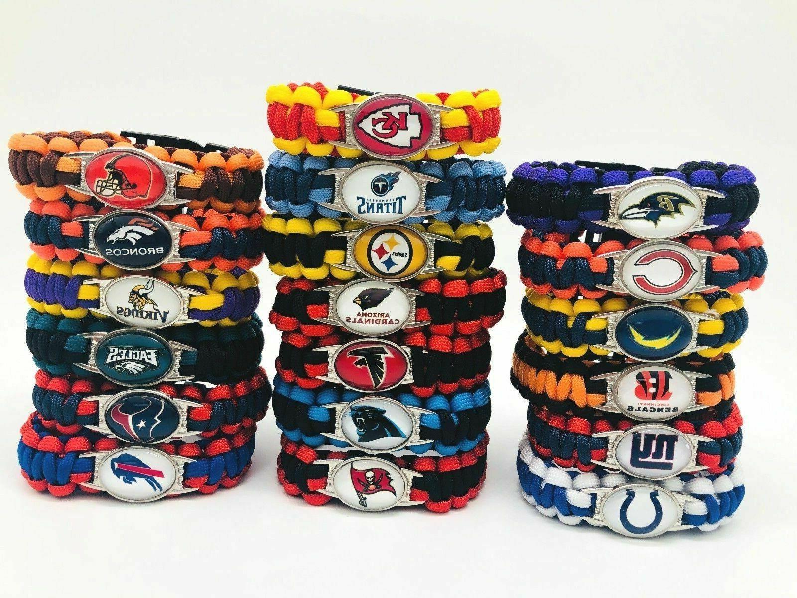 nfl football teams emergency paracord survival bracelet