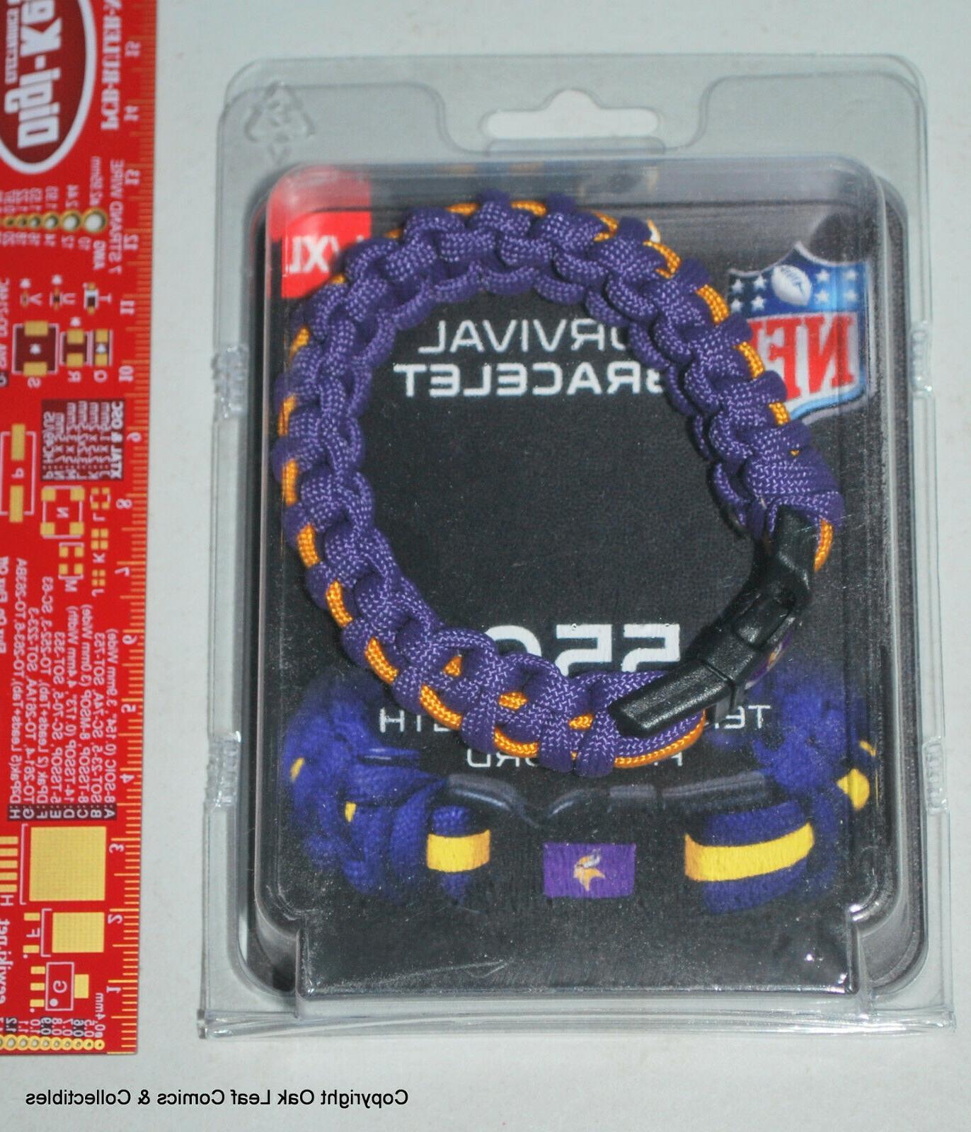 nfl minnesota vikings para cord bracelet survival