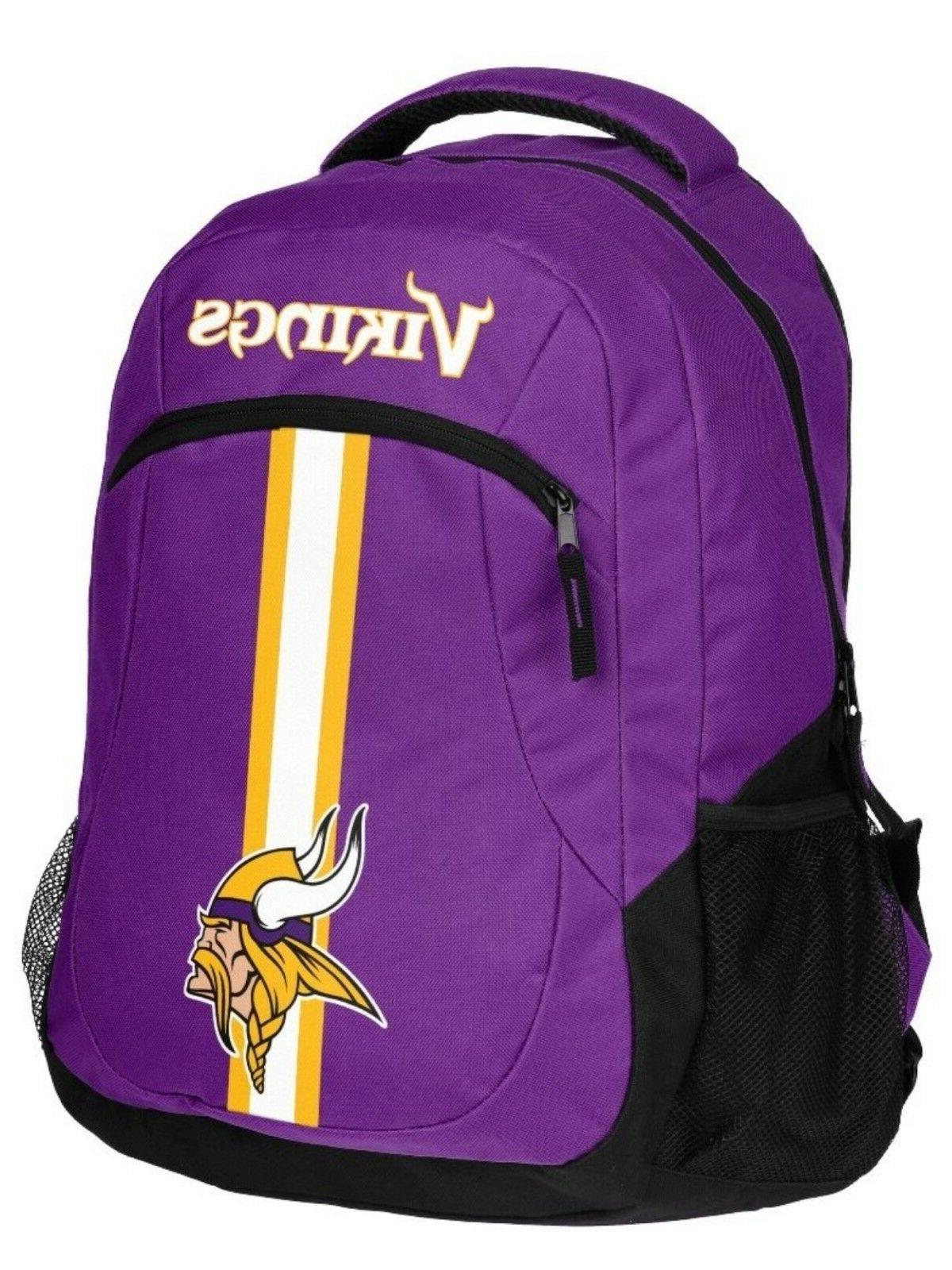 nfl minnesota vikingsaction backpack