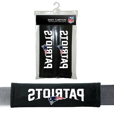NFL New England Patriots Pads Car Seat Belt Interior Auto Ac