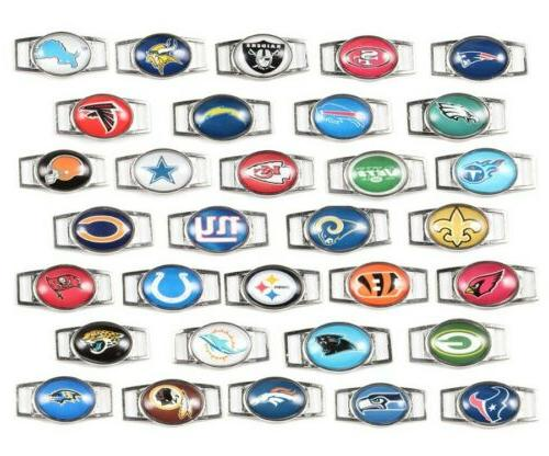 nfl paracord shoelace oval charms bracelet pair