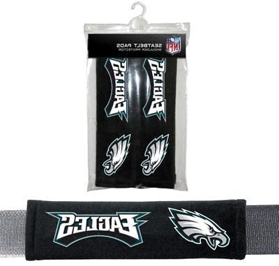 NFL Philadelphia Eagles Pads Car Seat Belt Interior Auto Acc