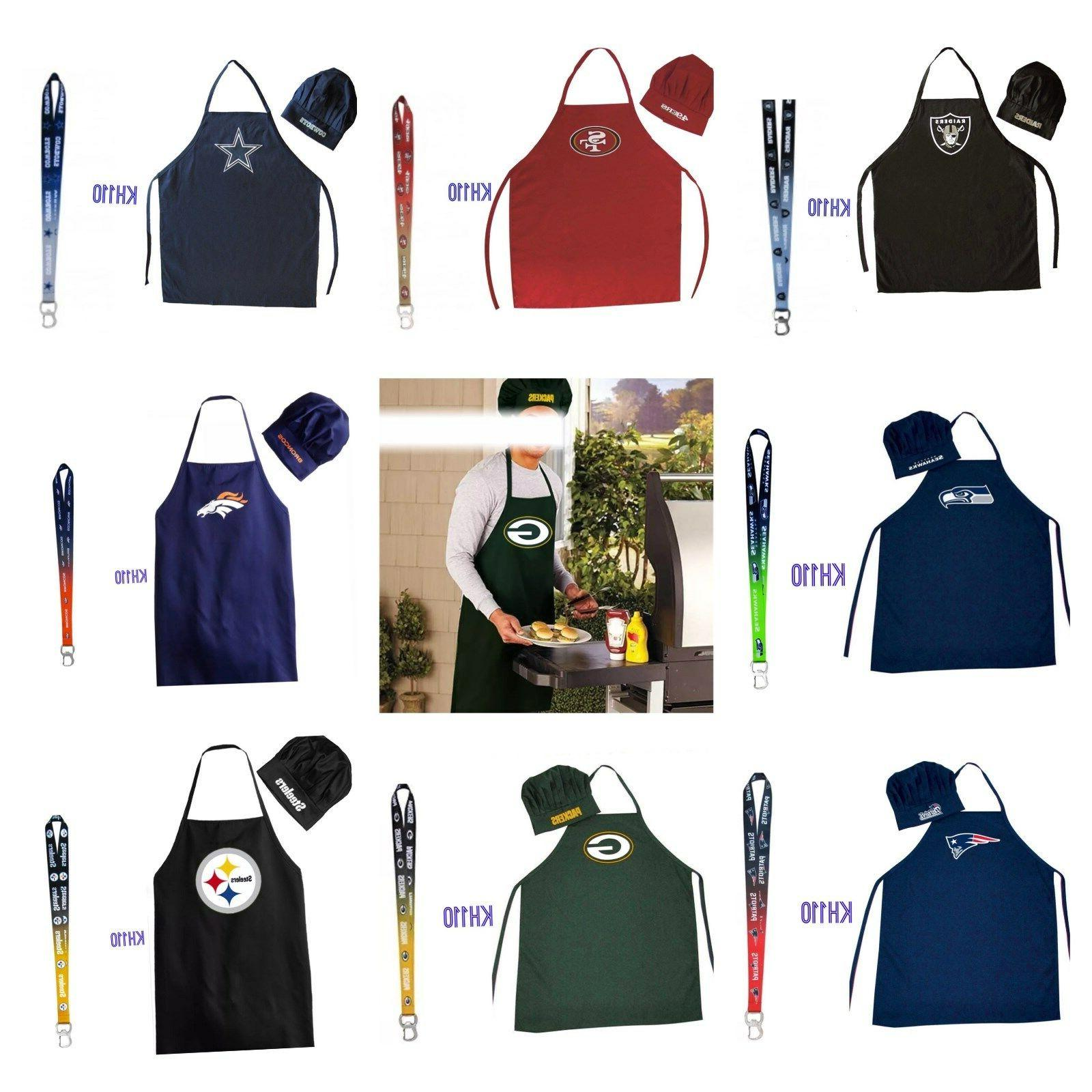 nfl team chef hat and apron bottle