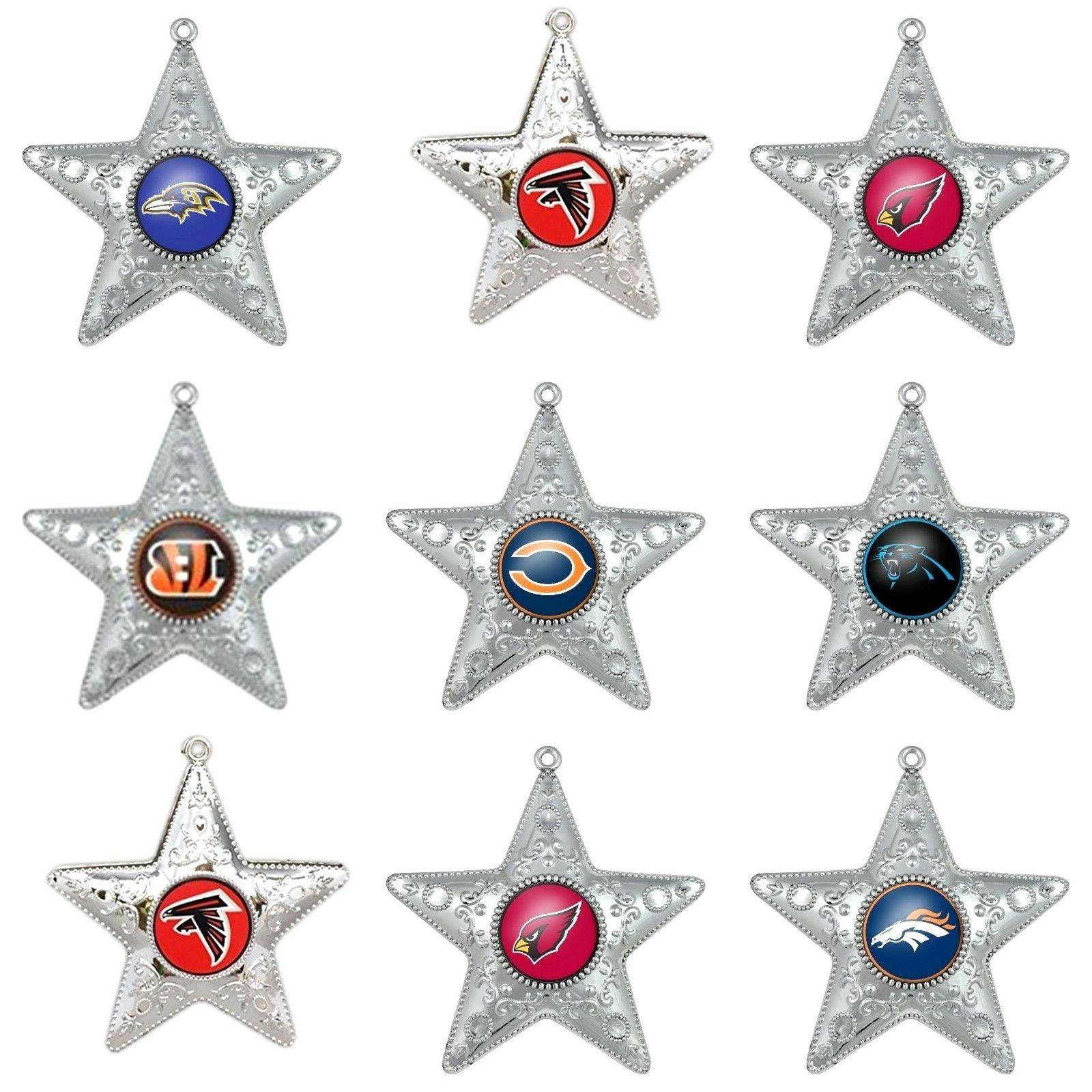 nfl team ornament silver star christmas x