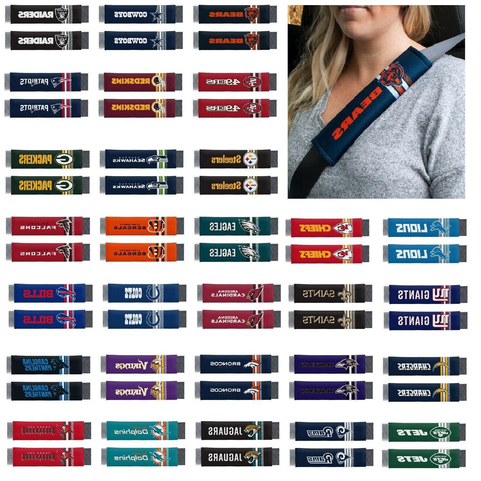 nfl teams seat belt shoulder pad covers