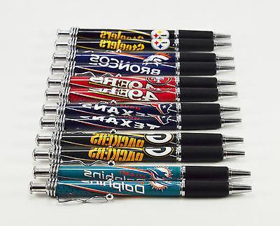 set of 2 nfl football click pens