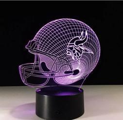 Minnesota Vikings LED Light Lamp Collectible Kirk Cousins Ho