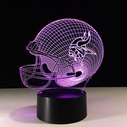 Minnesota Vikings 3D LED Lamp Home Decor Gift Kirk Cousins H