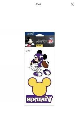 Mickey Mouse Disney Minnesota Vikings 2 Piece Perfect Cut De
