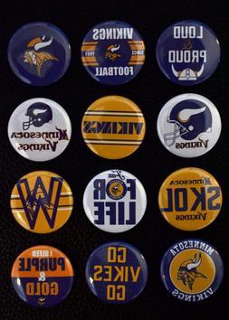 "Minnesota Vikings - 1 1/2"" Inch Magnet Set"