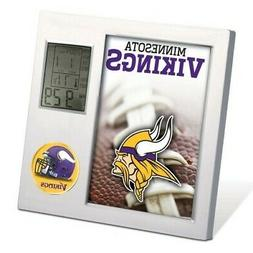 MINNESOTA VIKINGS ~  Official NFL Team Logo Desk Alarm Clock