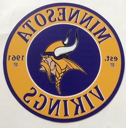 "Minnesota Vikings 12"" Diameter Aluminum Sign"