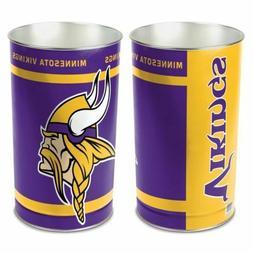 "Minnesota Vikings 15""X10.5"" TRASH CAN WASTEBASKET BRAND NEW"
