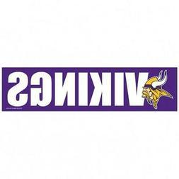 Minnesota Vikings 3 x 12 Inch Bumper Sticker  NFL Strip Car