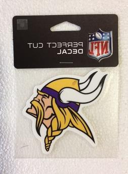 "Minnesota Vikings 4"" x 4"" Team Logo Truck Car Window Die Cut"
