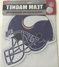 """Minnesota Vikings 8"""" Logo Helmet Magnet NFL Outdoor Auto Fri"""