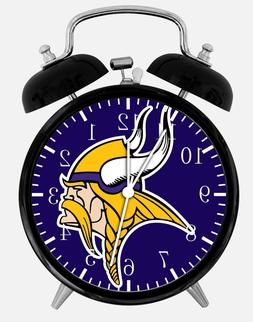 "Minnesota Vikings Alarm Desk Clock 3.75"" Home or Office Deco"