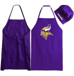 f RMINNESOTA VIKINGS APRON & CHEF'S HAT for BARBECUE GAME DA