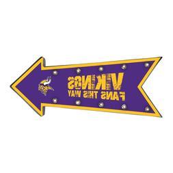 Minnesota Vikings Arrow Marquee Sign - Light Up - Room Bar D