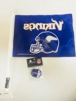Minnesota Vikings Auto Flag Car Vehicle & Antenna Topper Min