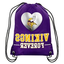 minnesota vikings back pack drawstring bag tote