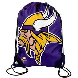 minnesota vikings back pack sack drawstring bag