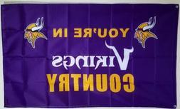 Minnesota Vikings Banner 3x5 ft Flag Man Cave Decor Vikings