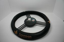 Minnesota Vikings Black Vinyl Massage Grip Steering Wheel Co