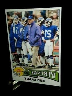 Minnesota Vikings Bud Grant Coach Custom Handmade Card 1975