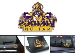 minnesota vikings bumper window vinyl decal 5x4