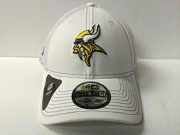Minnesota Vikings Cap New Era 39Thirty Stretch Fit Mesh Whit