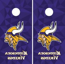 Minnesota Vikings Cornhole Wrap NFL Game Skin Board Set Viny