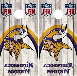 Minnesota Vikings Cornhole Wrap NFL Game Wood Skin Board Set