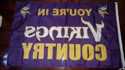 Minnesota Vikings Country 3x5 Flag. US seller. Free shipping