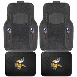 minnesota vikings deluxe auto floor mats car