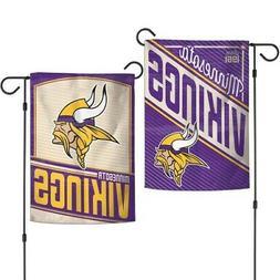 "MINNESOTA VIKINGS DOUBLE SIDED GARDEN FLAG 12""X18"" YARD BANN"