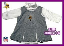MINNESOTA VIKINGS FOOTBALL GIRLS CHEERLEADER DRESS 3-6 NEW C
