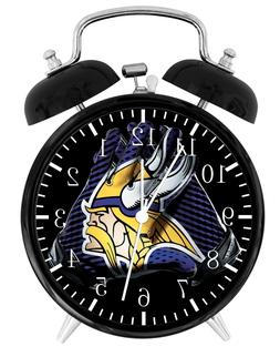 Minnesota Vikings Football NFL Alarm Desk Clock Nice For Dec