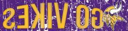 "Minnesota Vikings GO VIKES Football Wood Wall Sign New 16"" x"