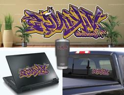 minnesota vikings graffiti vinyl vehicle car laptop