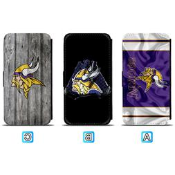 Minnesota Vikings Leather Flip Case For iPhone X Xs Max Xr 7