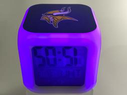 Minnesota Vikings LED Digital Alarm Clock Watch Lamp Decor K