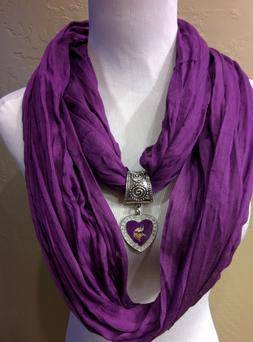 Minnesota Vikings Licensed  Pendant on a Purple  infinity te