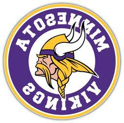 "Minnesota Vikings Logo NFL Sport Car Bumper Sticker Decal ""S"