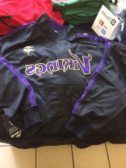 Minnesota Vikings Men's Big & Tall 2XLT; 3&4XL, Full-Zip Tra