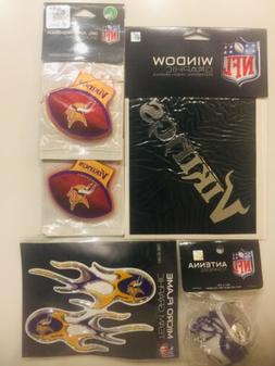 minnesota vikings micro flame decal antenna topper